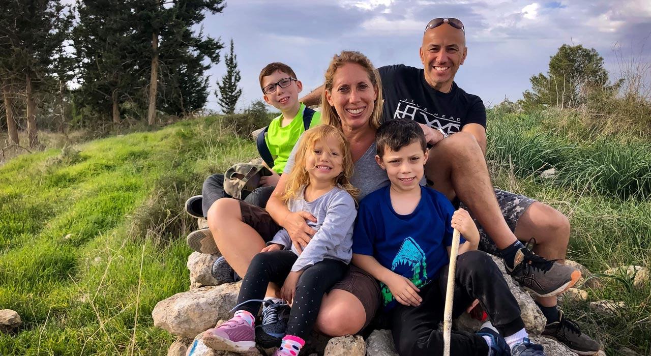 Davis family in the fields
