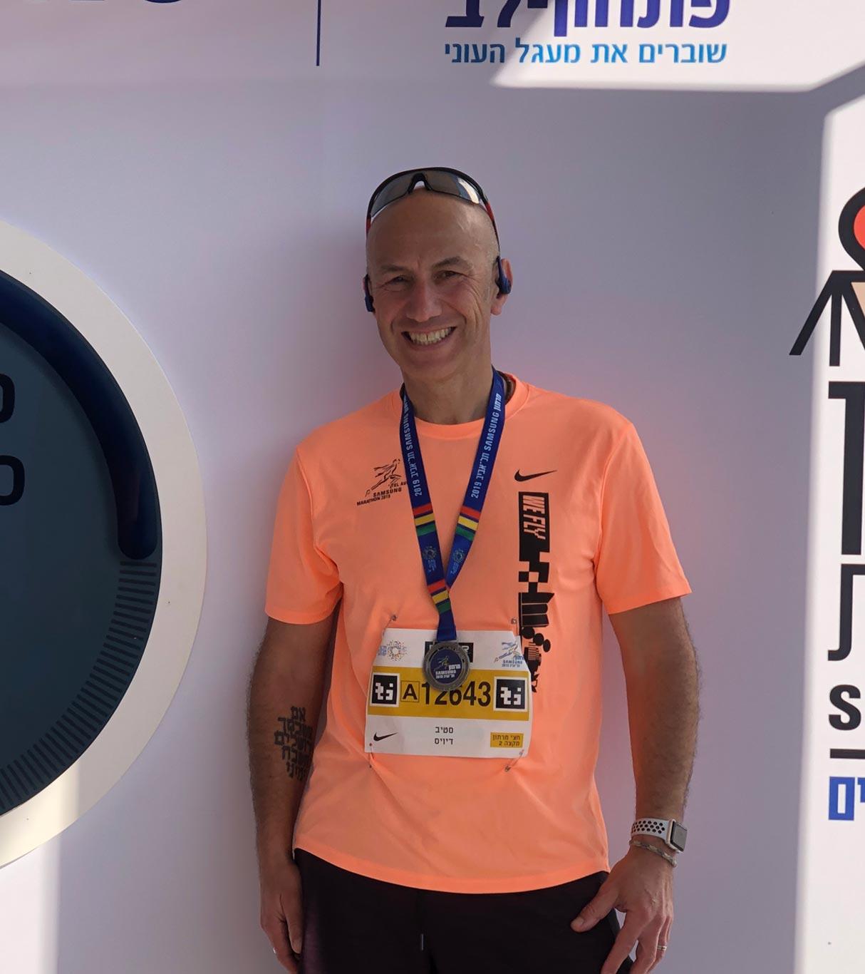 Steve runs the marathon!